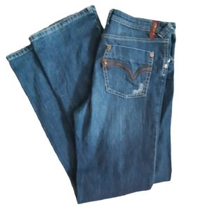 Marc Aurel | embroidered thin band blue jeans